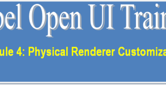 Physical Renderer Customization - Siebel Open UI Training - Part 4