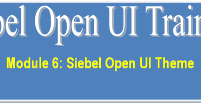 Siebel Open UI Theme