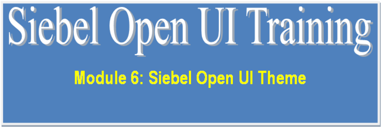 Siebel Open UI Theme