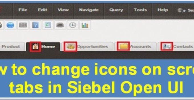 Add or modify icons on screen tabs in Siebel Open UI