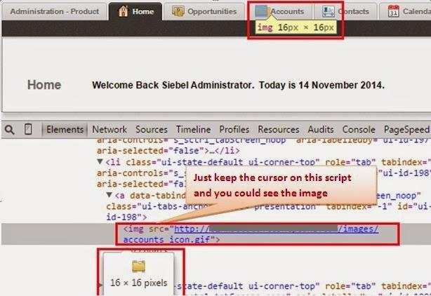 Modify screen tab icons in Siebel Open UI