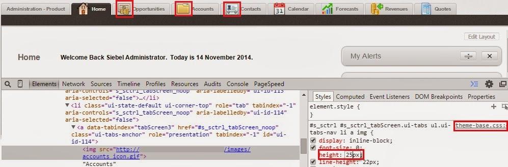 Update icons on Screen tab in Siebel Open UI