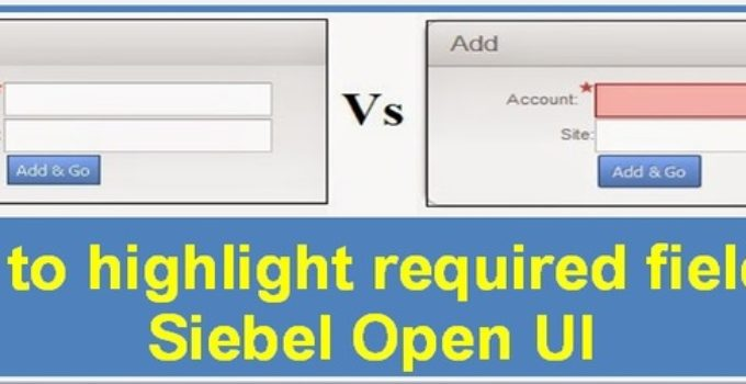 highlight required fields in Siebel Open UI configuration
