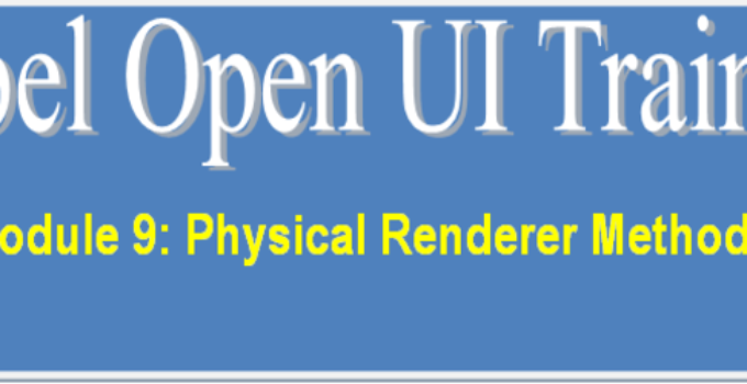 Physical Renderer Methods in Siebel Open UI