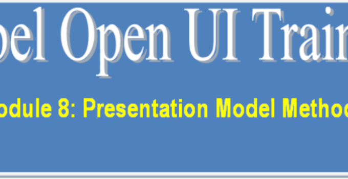 Presentation Model Methods in Siebel Open UI