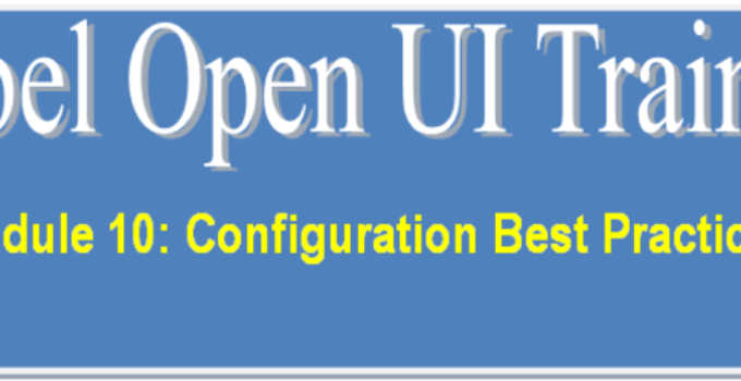 Siebel Open UI Best Practices