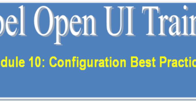 Siebel Open UI Best Practices