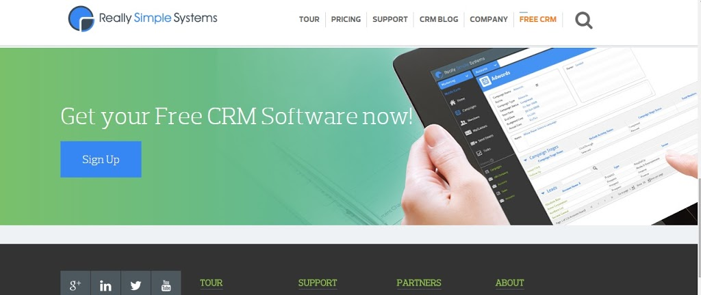 cloud based free CRM