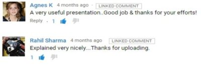 youtube linked comment