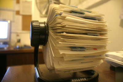 rolodex - history of crm