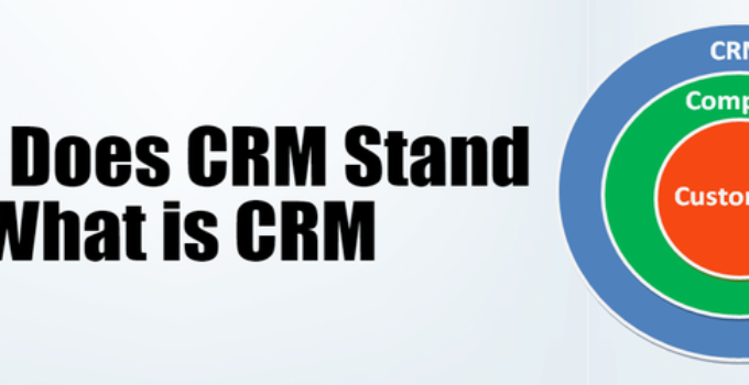 What does CRM stand for - what is crm