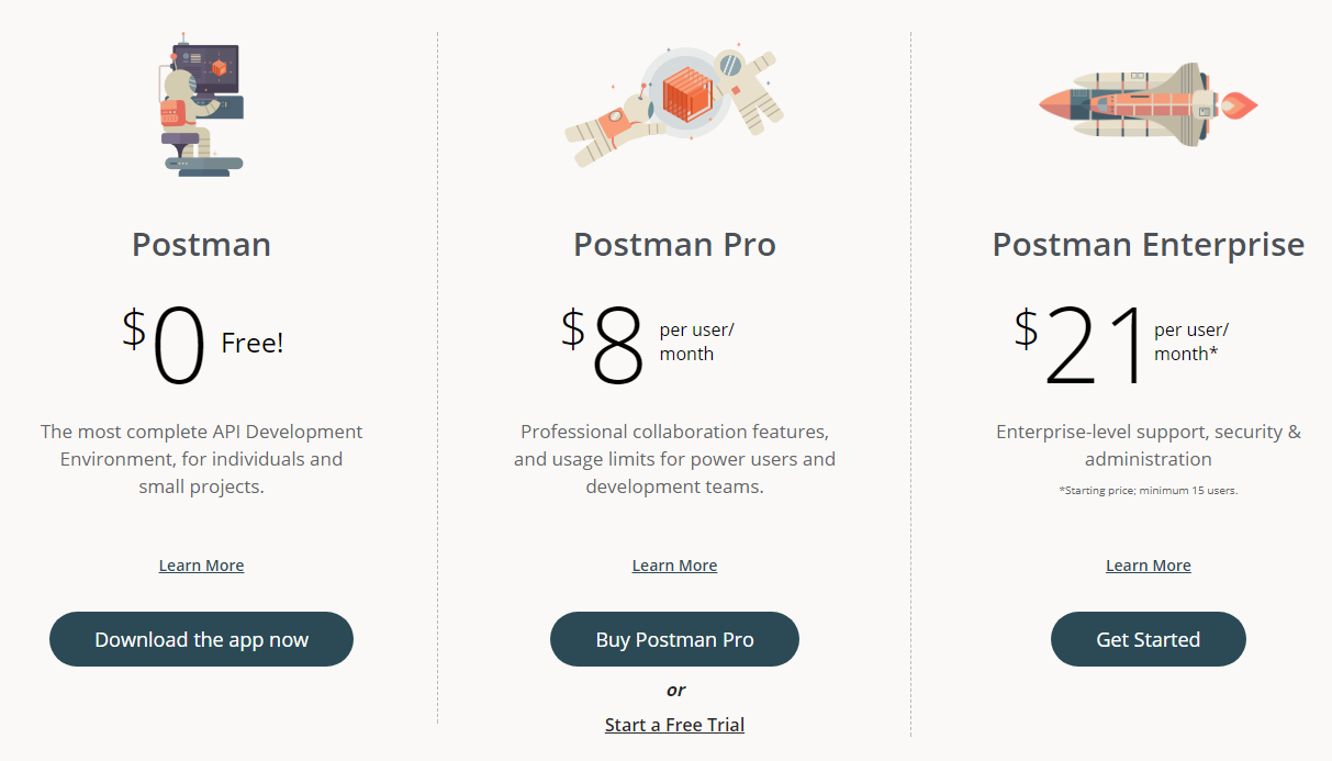 Soapui alternative - postman pricing plan